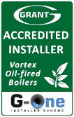 Grant Accredited installer of Oil-fired boilers